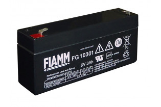 FG10301 - 6V 3Ah Batterie Plomb Etanche AGM