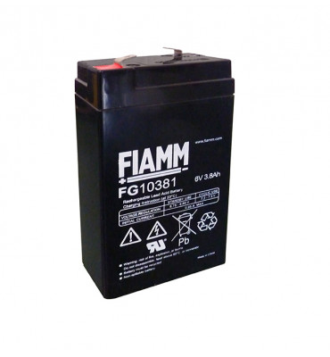 FG10381 - 6V 3.8Ah - Batterie Plomb Etanche AGM