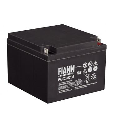 FGC22703 - 12V 27Ah - Batterie Plomb étanche Cyclique AGM