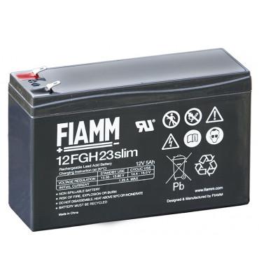 12FGH23slim - 12V 5Ah - Batterie Plomb étanche Décharge Rapide AGM