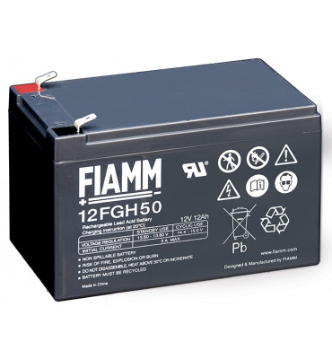 12FGH50 - 12V 12Ah - Batterie Plomb étanche Décharge Rapide AGM