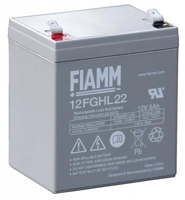 12FGHL22 - 12V 5Ah - Batterie Plomb étanche Longue Durée AGM